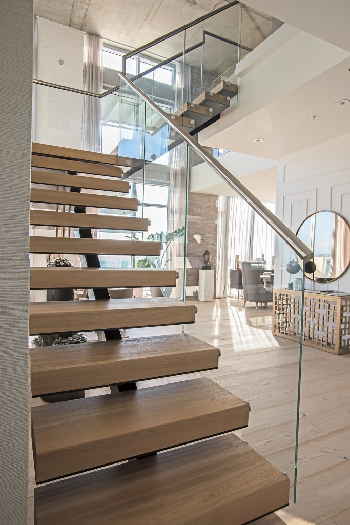 Modern Center Beam Staircase Collaboration Bella Stairs