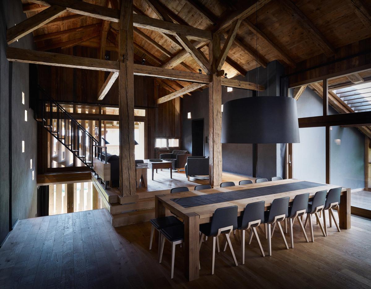 Villa Solaire in Pied de La Plagne, Morzine, France (interior) Photo- Julien Lanoo