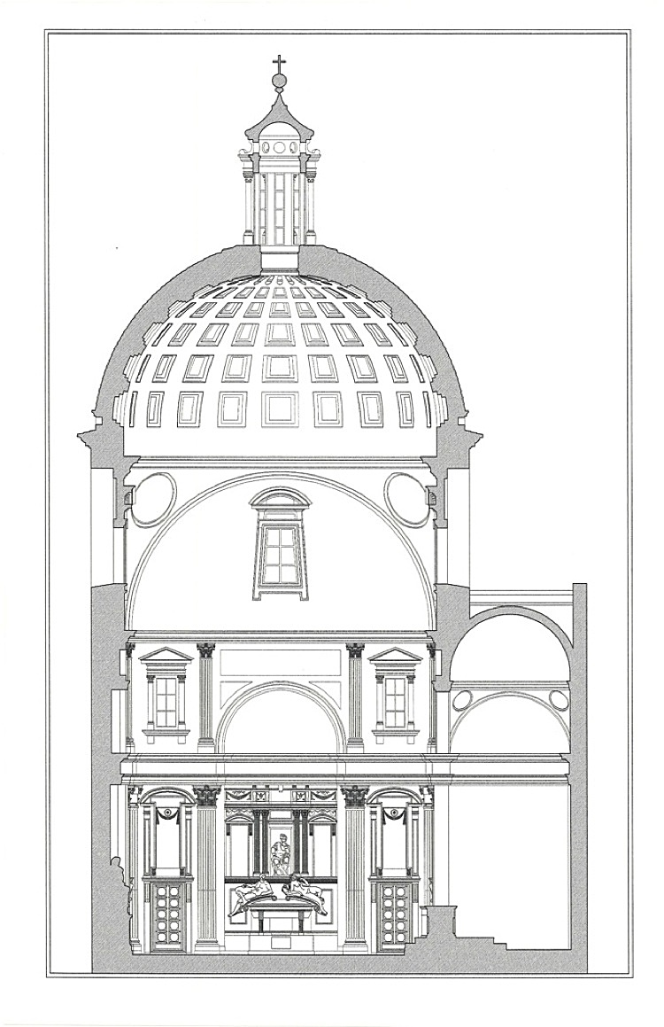 Research Medici Chapel Section John Hess Archinect