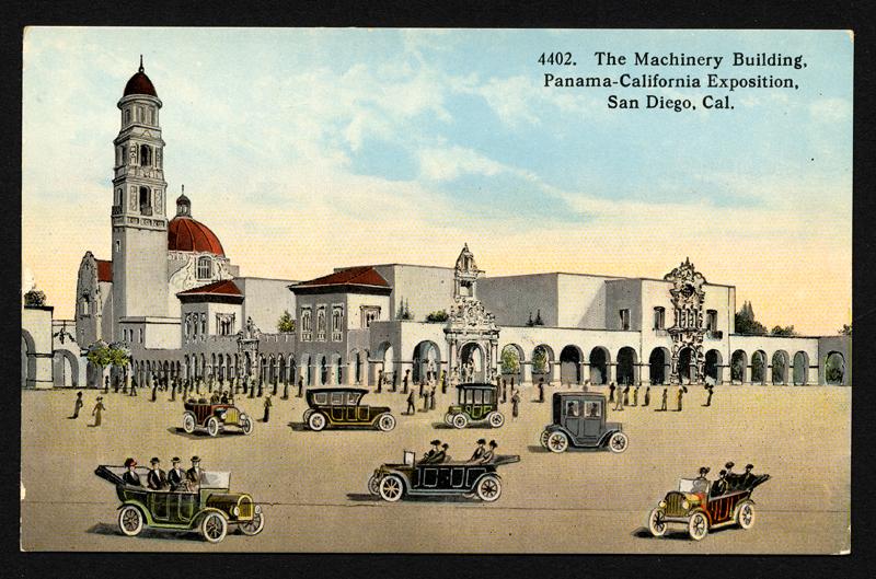The Machinery Building, Panama California Exposition, image via Wolfsonian–Florida International University.