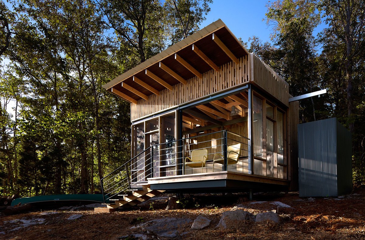 Cape Russell Retreat; Sharps Chapel, TN by Sanders Pace Architecture (Photo: Jeffrey Jacobs Photography)