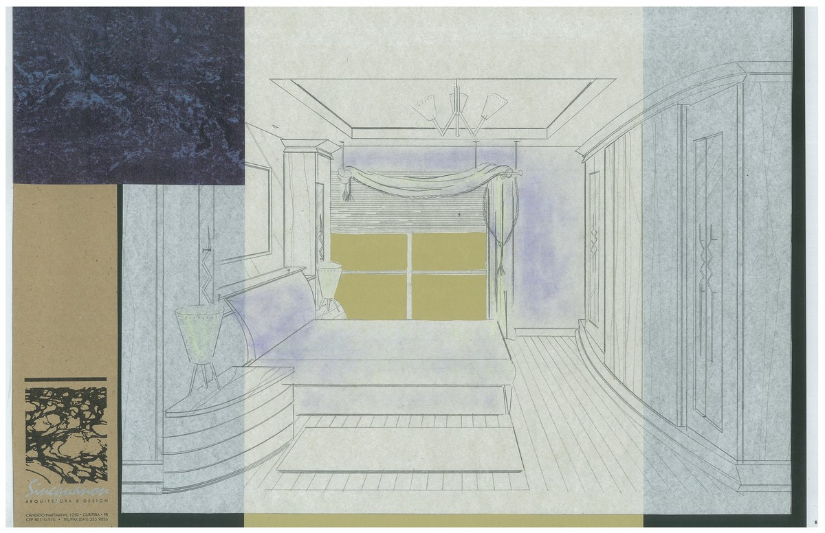 Mr. Jerves Master Bedroom | Interior Hand-Sketch