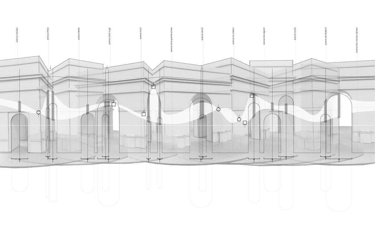 Arc De Triomphe: Diagram by Parker Ammann.