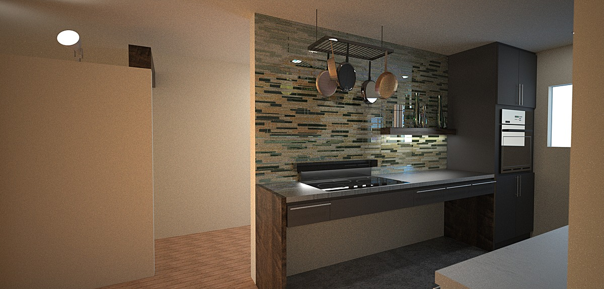 Kitchen proposal render - View 1