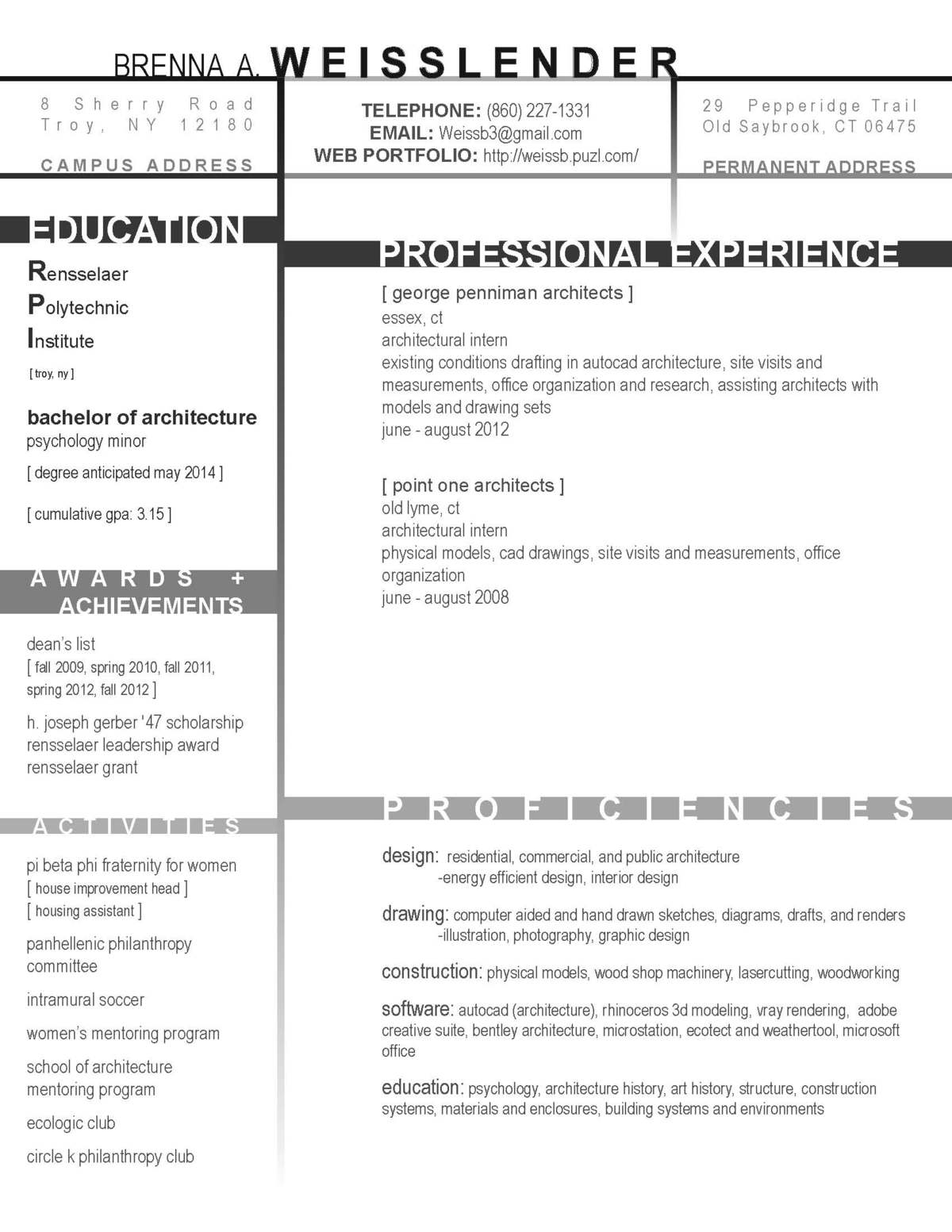 Resume Cover Letter DAS Architecture
