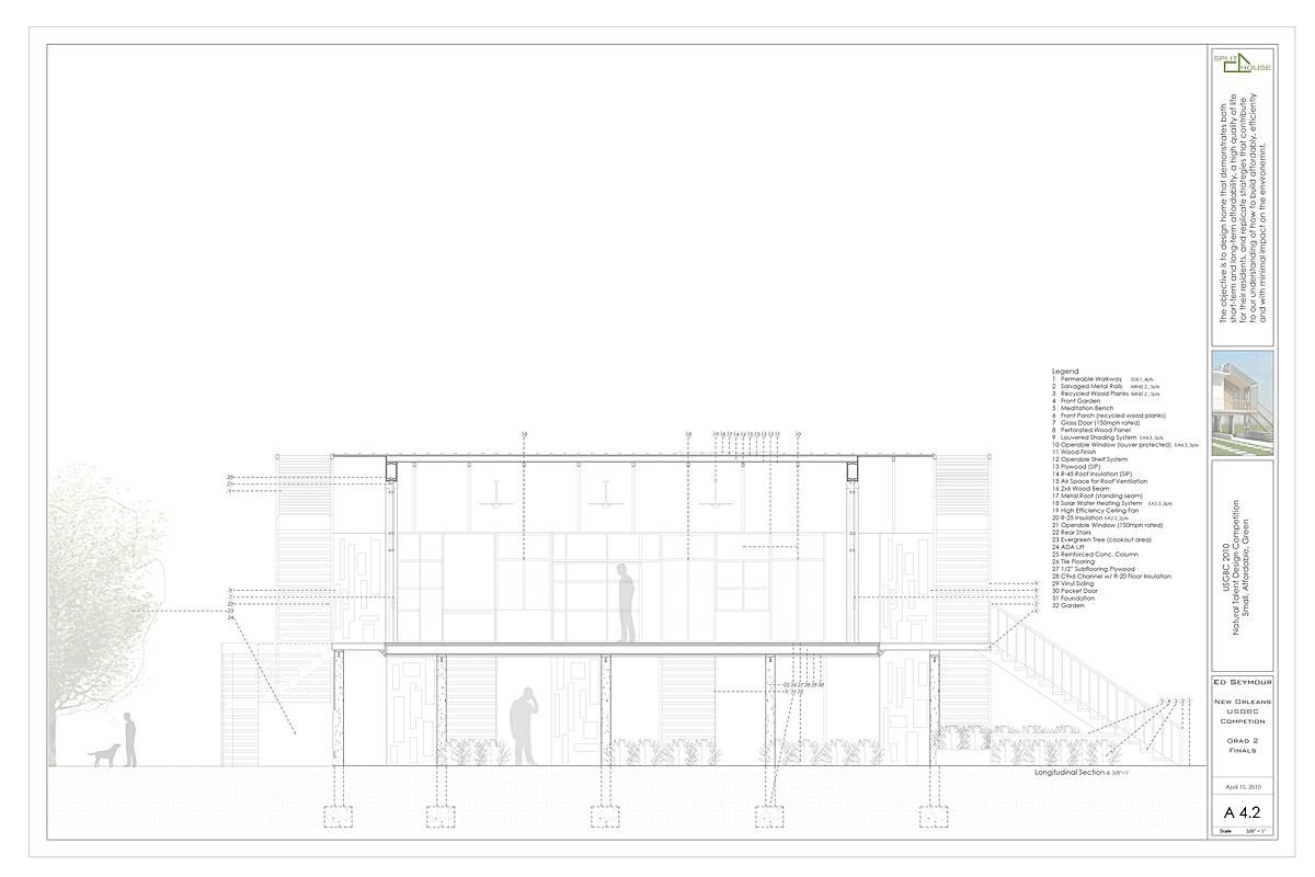 SSPLIT House Longitudinal Section