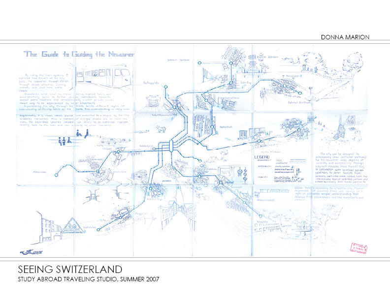 Seeing Switzerland - hand-drawn map