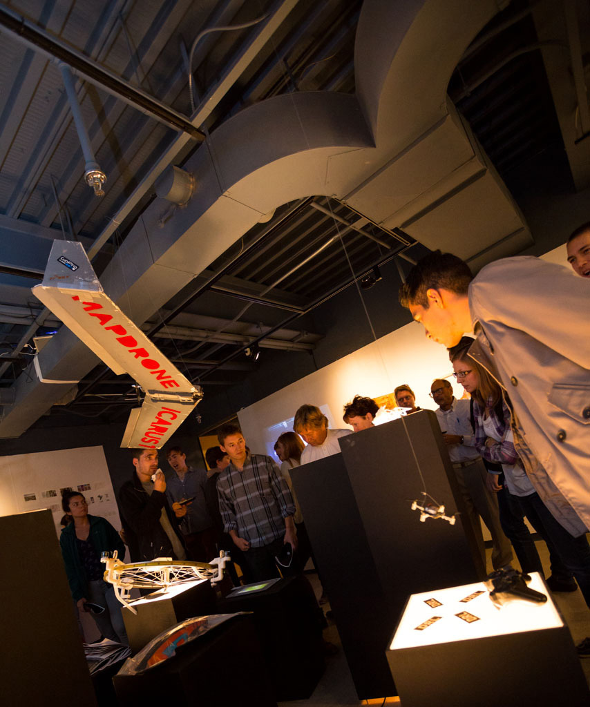 At the Air Rights exhibition. Photo by Mark Gjukich, courtesy Taubman College of Architecture and Urban Planning