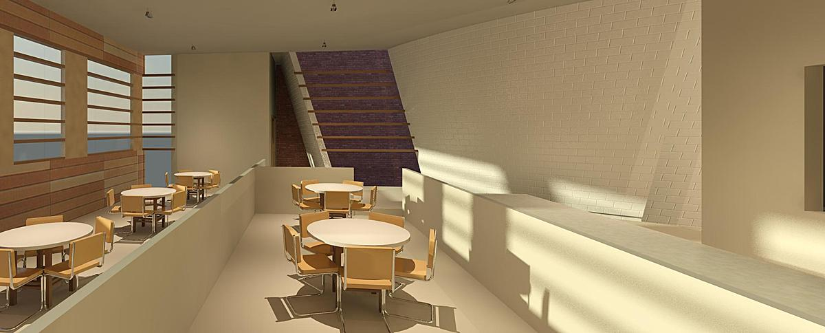 Cafe interior rendering