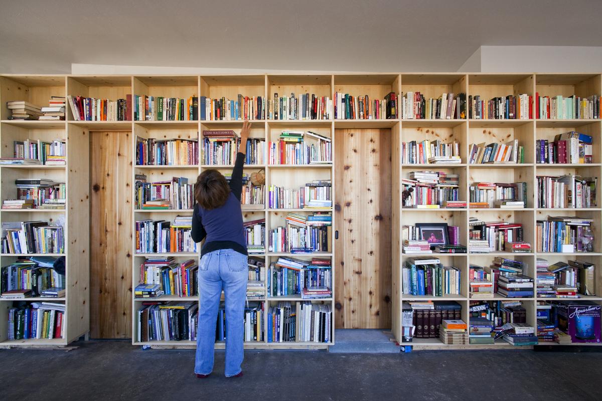 50' long Bookshelf