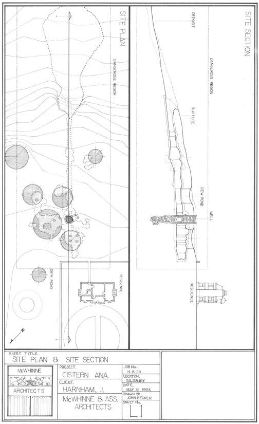 1903 plan of cistern