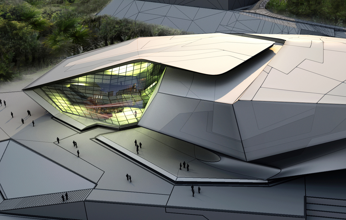 Chinese University Of Hong Kong Sports Complex Tom Wiscombe Architecture Inc Archinect
