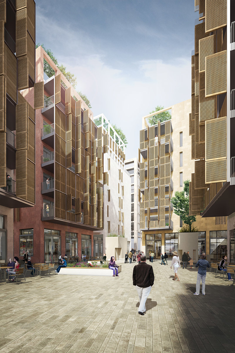 Street view rendering (Image: Allies and Morrison Architects)