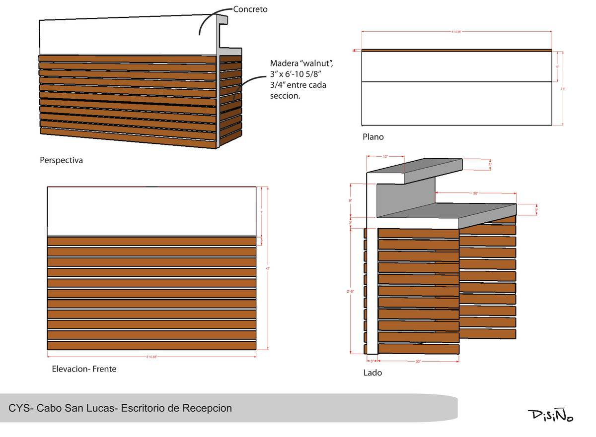 Reception Desk Section Detail Drawing Reception Desk Drawing