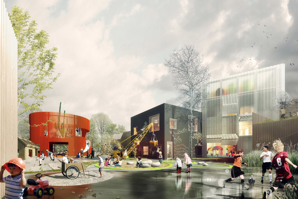 Winning design of the Prinsessegade Kindergarden and Youth Club competition (Image: COBE, NORD Architects, PK3 and Grontmij)