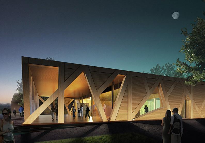 Exterior rendering, night (Image: CEBRA)