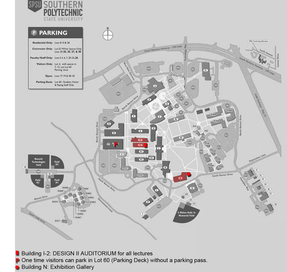 Architecture Facilities Location Map