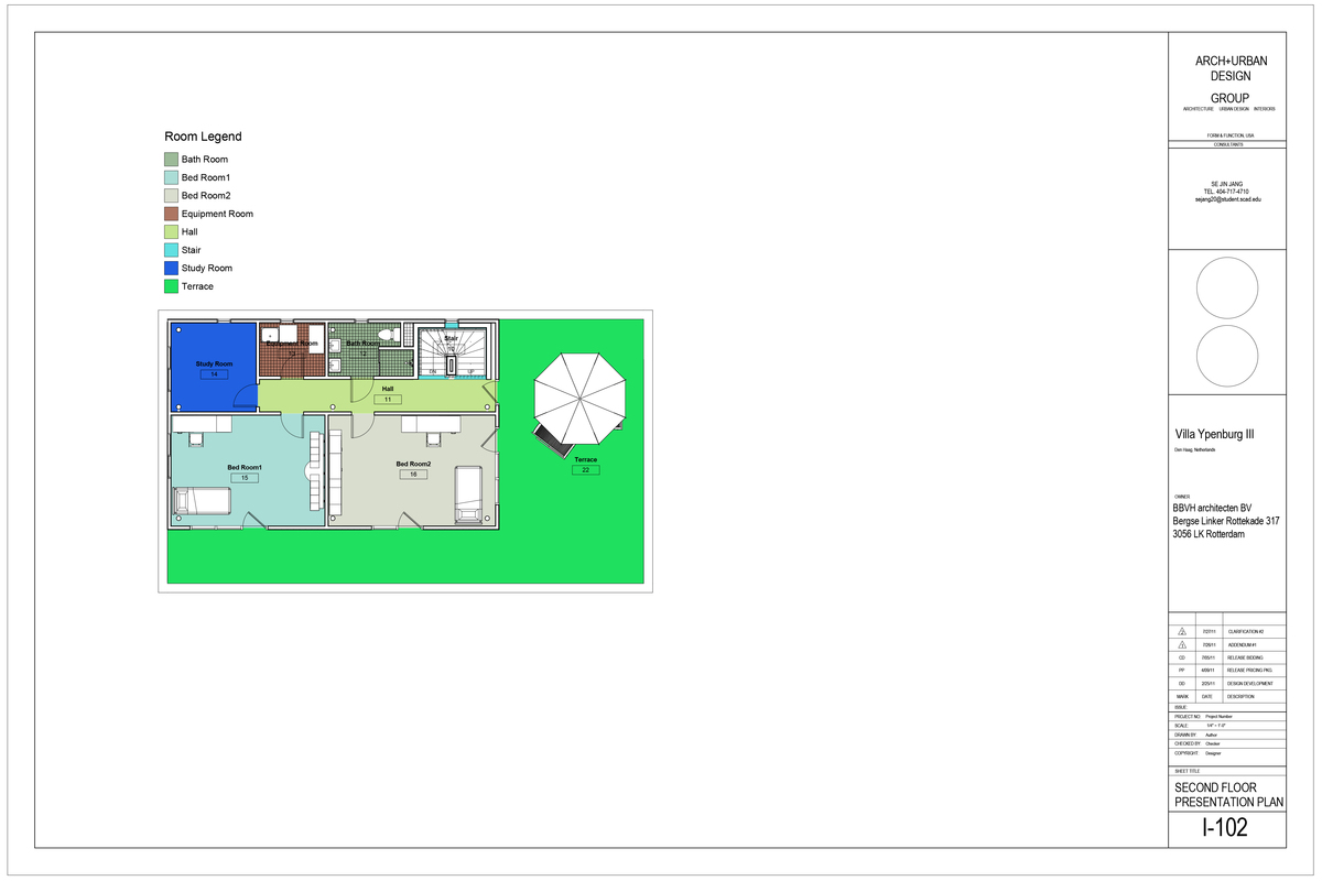 Second Floor Presentation Plan