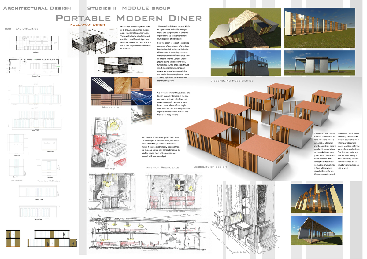 portable architecture modern dinner group project 2nd year architecture frederico duarte. Black Bedroom Furniture Sets. Home Design Ideas