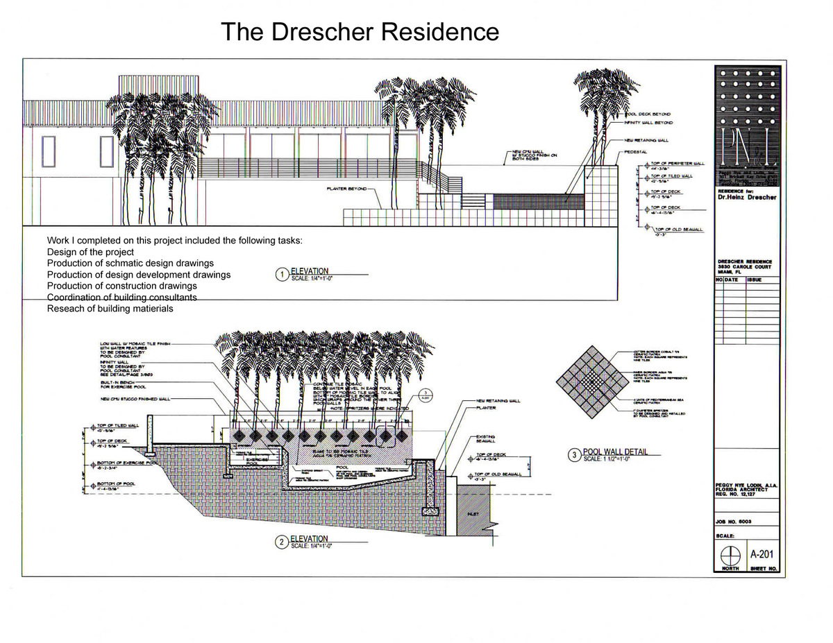 The Drescher Residence-elevations