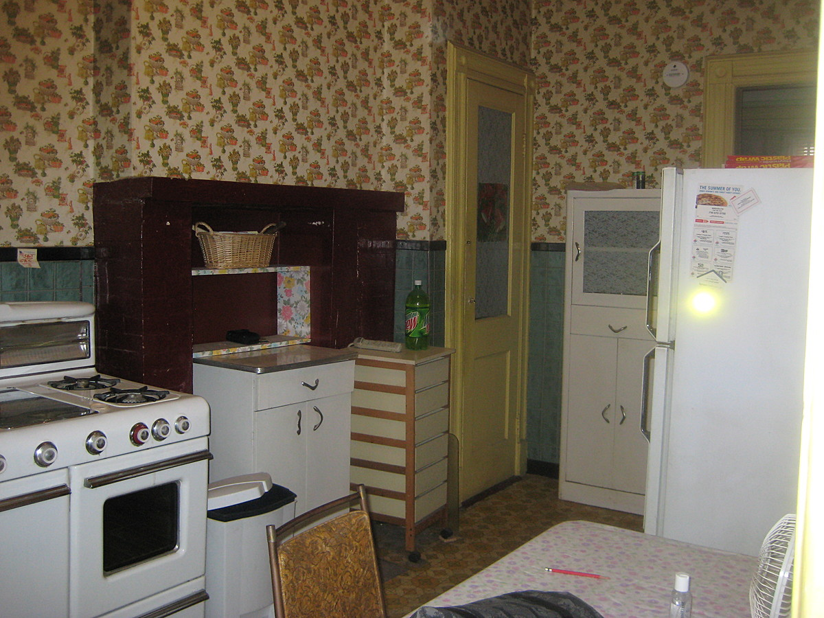 Pre-renovation kitchen