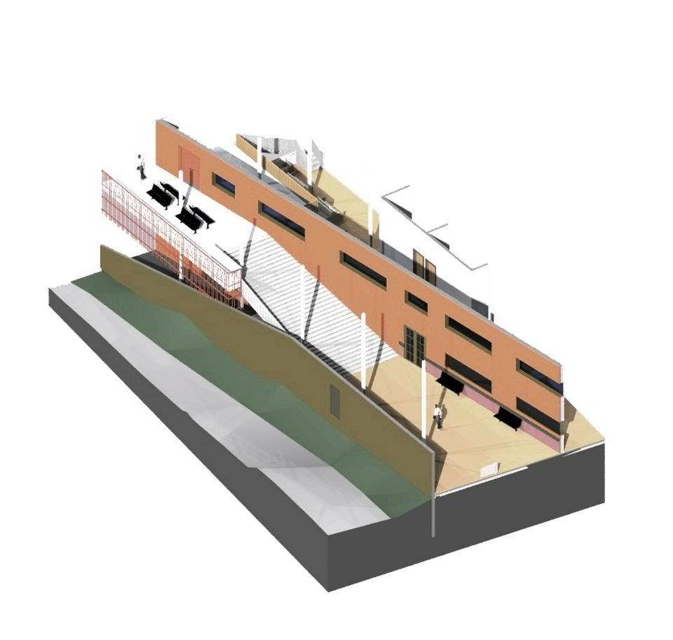 Sectional perspective rendering B