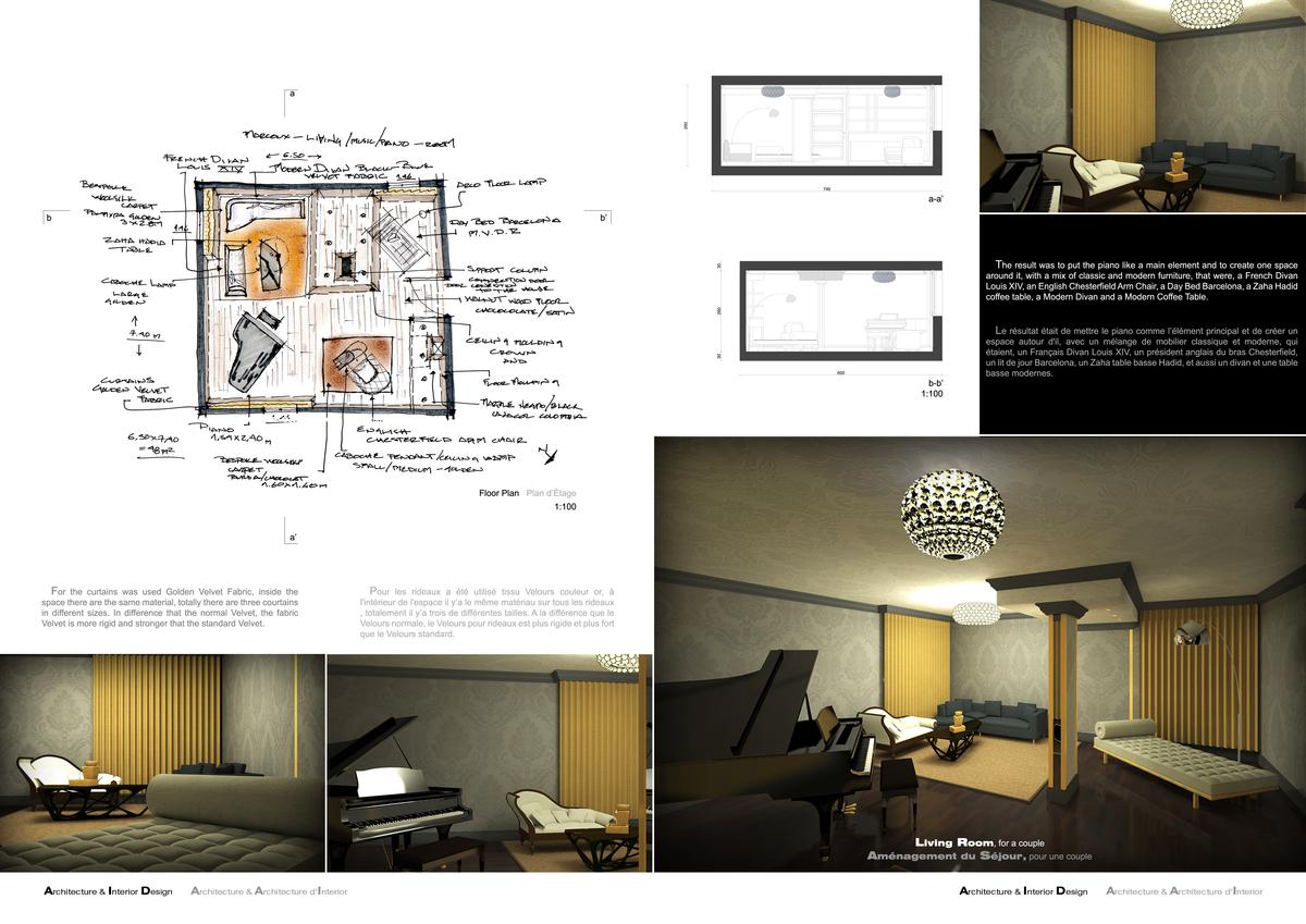Interior Design Piano Room Mariano Garcia Archinect - Interior design materials