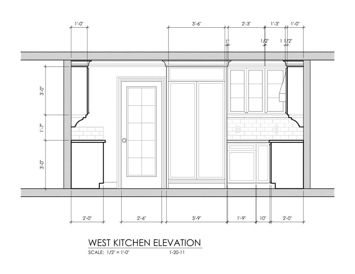 Kitchen - West Elevation