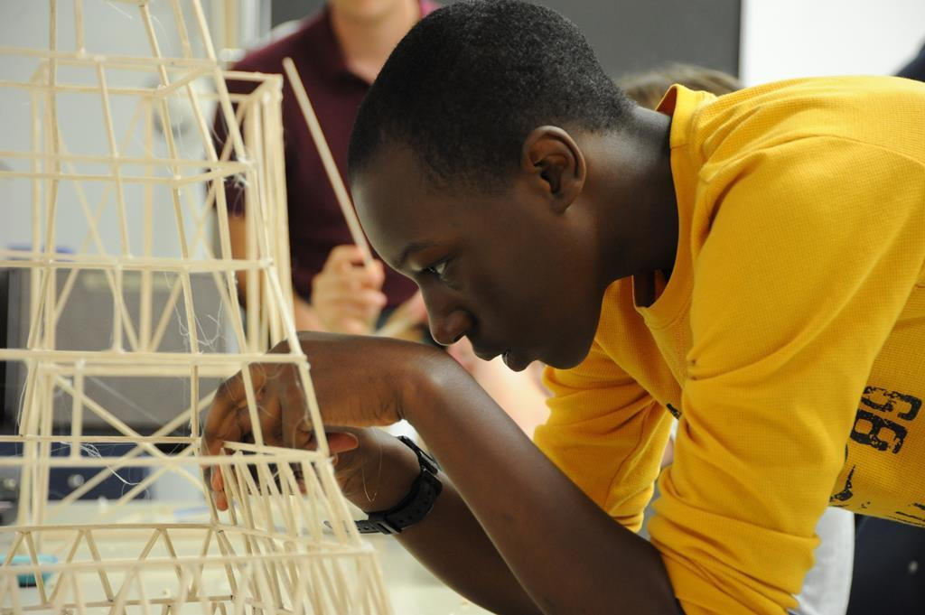 Student at US Naval Academy Summer STEM Camp, Photo by Patrick Dunn.