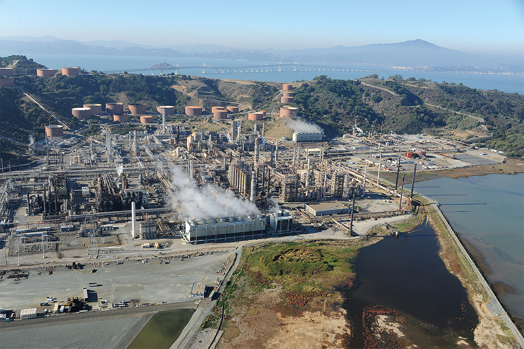 Richmond Refinery, © Center for Land Use Interpretation from Around the Bay: Man-Made Sites of Interest in the San Francisco Bay Region (Blast Books).