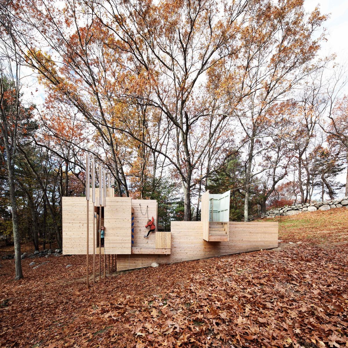 Five Fields Play Structure. Image via Matter Design.