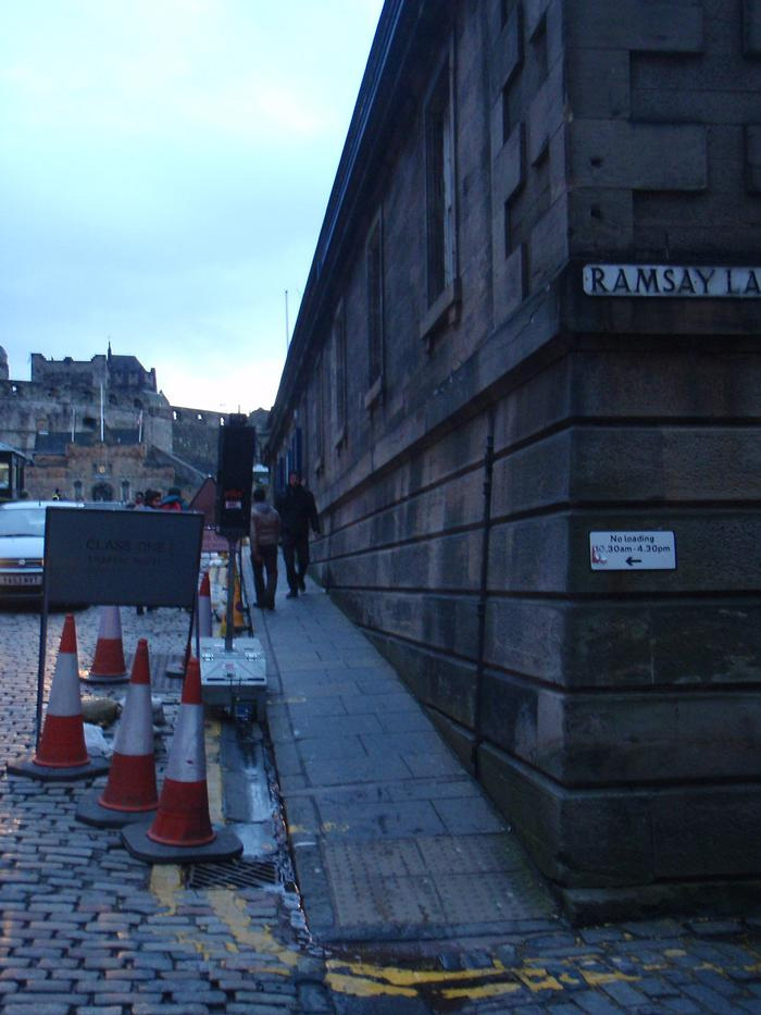 Third Prize (tied): Caitlin Copeland: A typical close leading from Edinburgh's Old Town to New Town