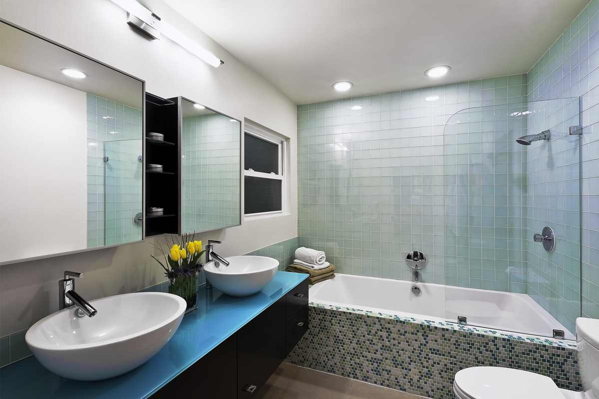 Contemporary bungalow clay aurell archinect for Bungalow bathroom designs