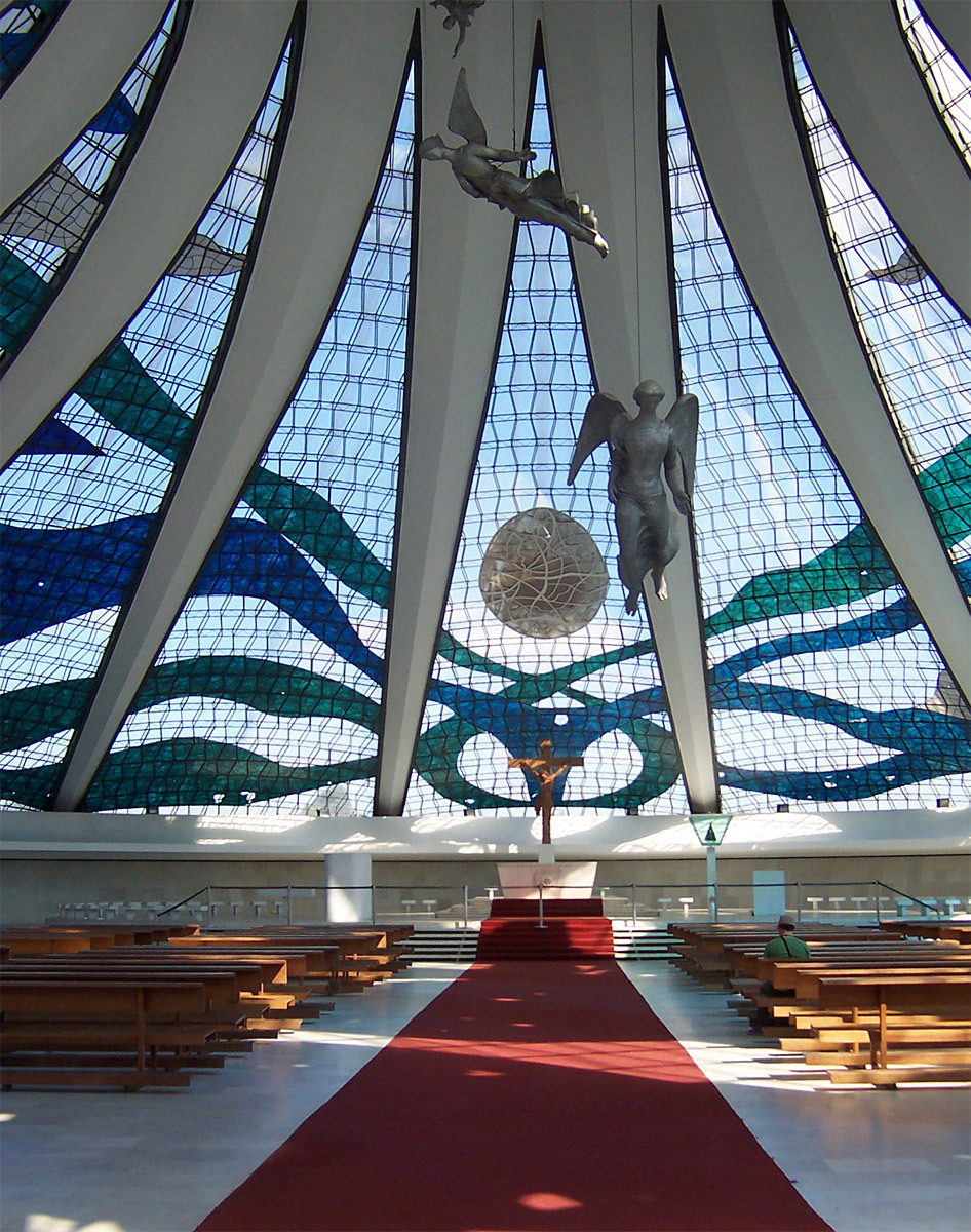 Cathedral of Brasília, Brasília, interior