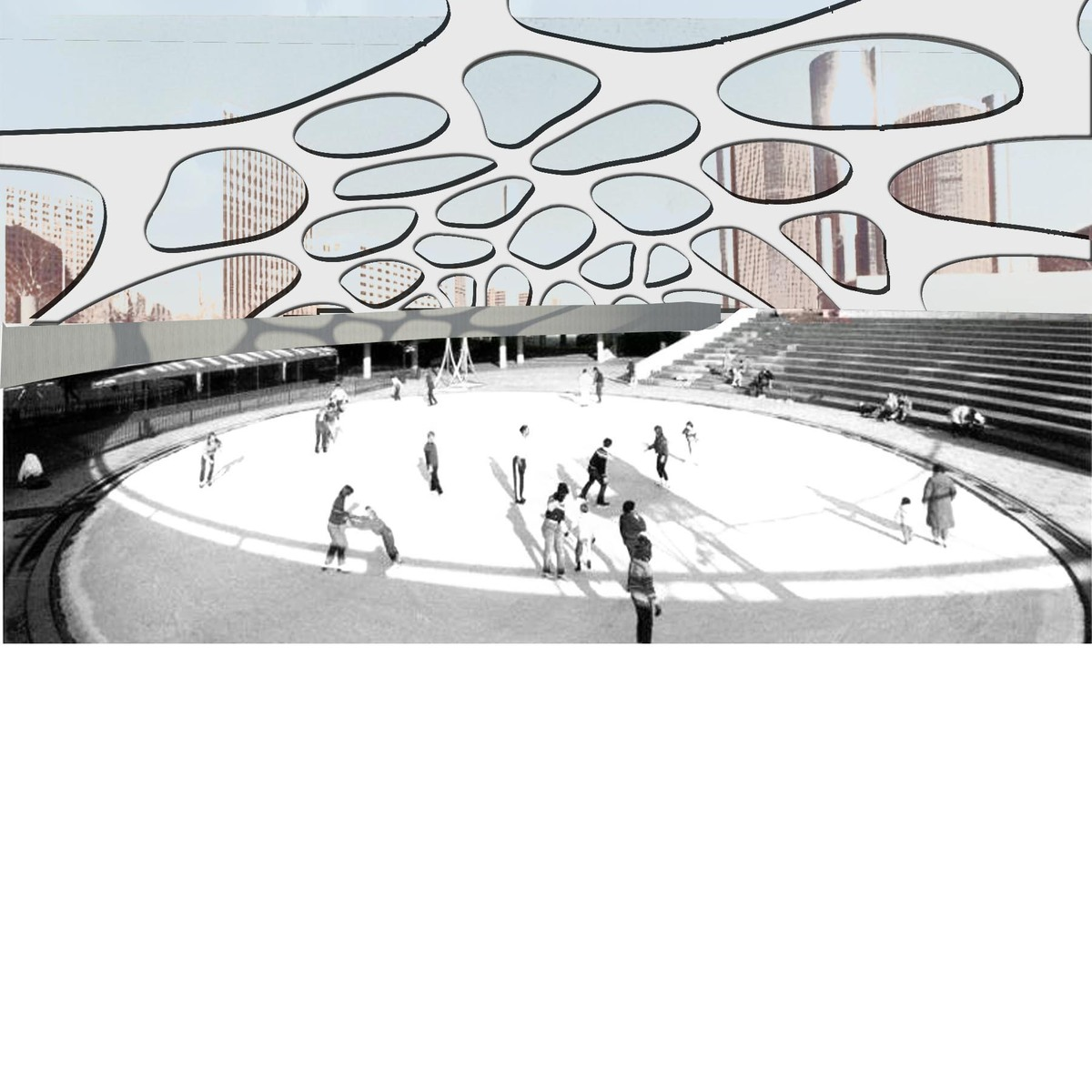 Existing Amphitheater, transformed into a new interior gallery.