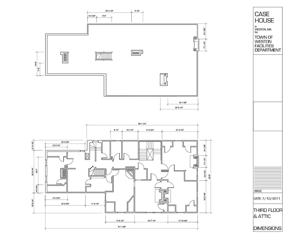 Third Floor & Attic - Existing