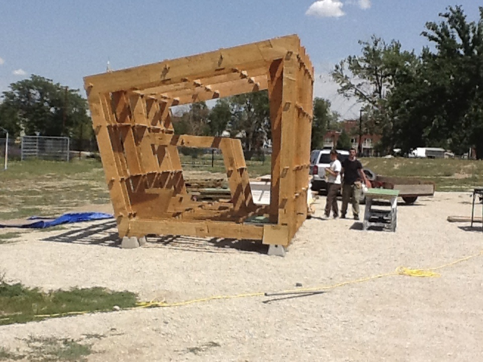 FOUNDhouse construction in Denver, Colorado. Photo credit: Nam Henderson.