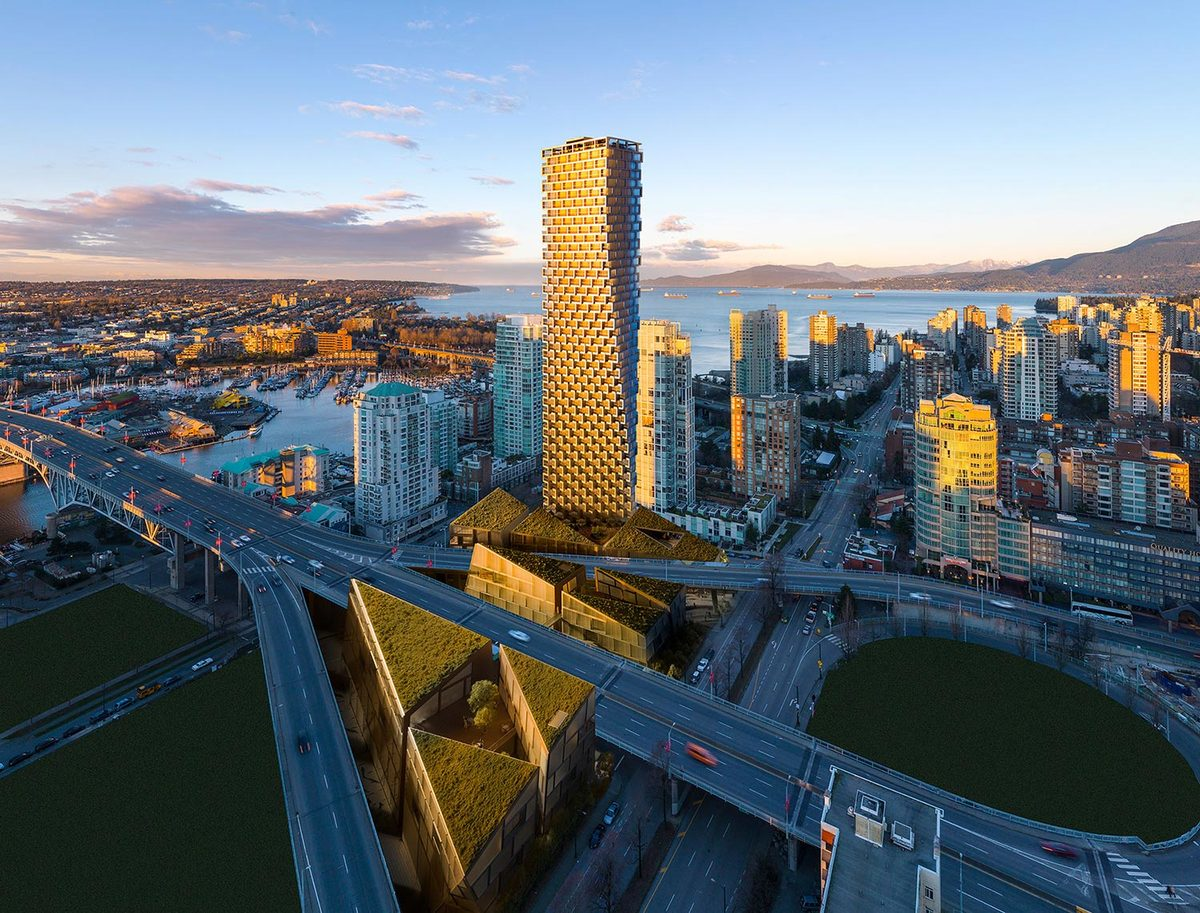 A rendering of the Vancouver House by BIG. Image via Westbank.