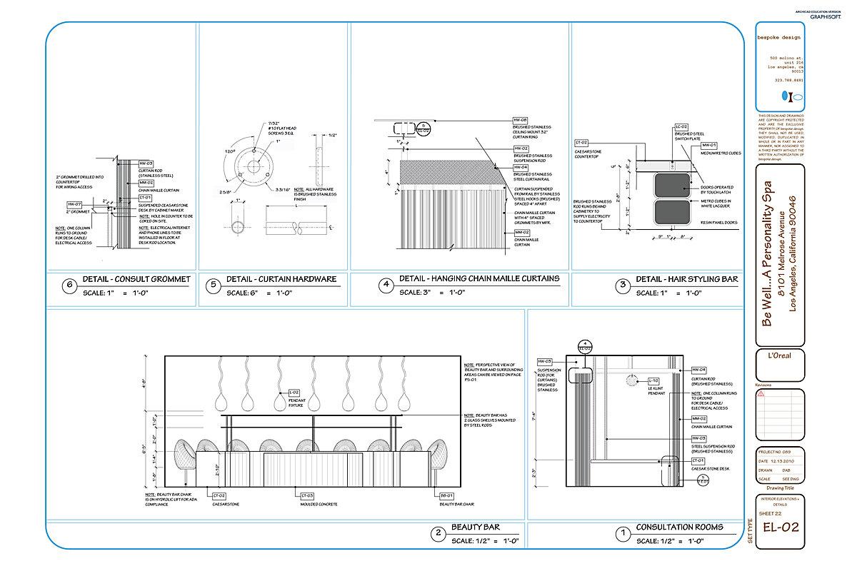 EL-02 Interior Elevations + Details