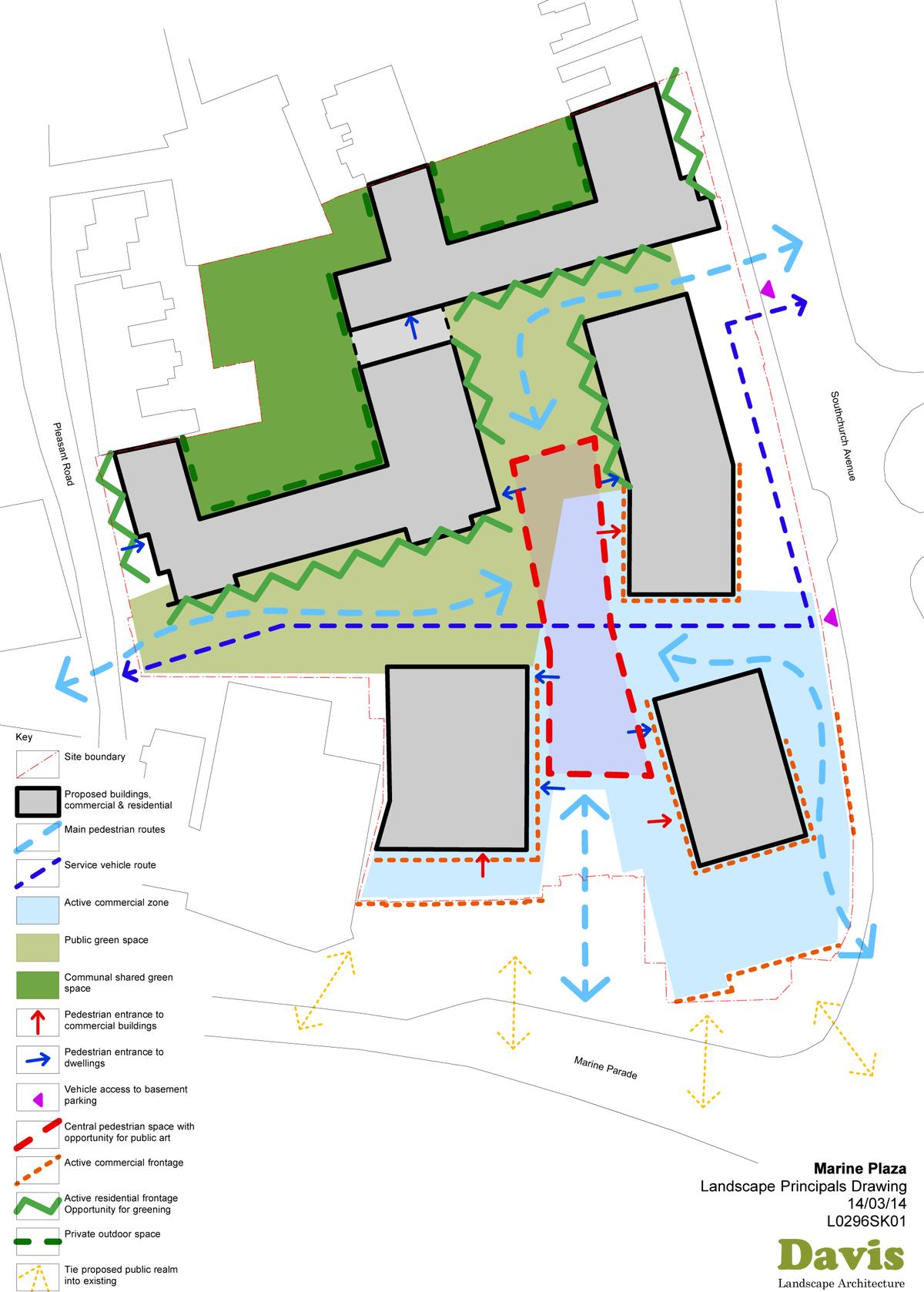 Marine Plaza Mixed Use Landscape Landscape Principals