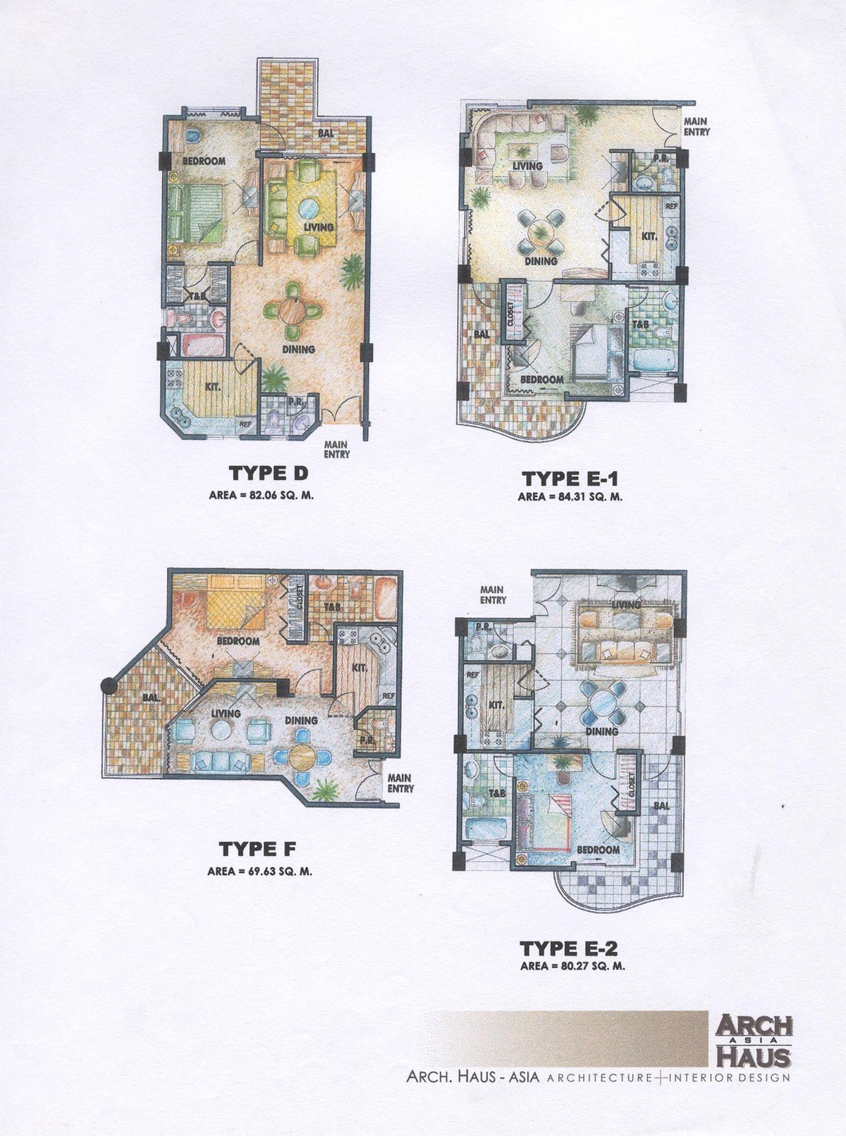 Typical Condotel Unit Plans