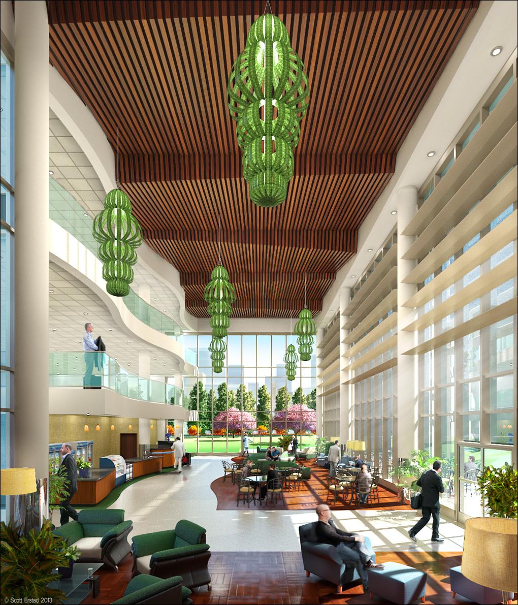 Corporate Interior Concept Scott Erstad Design Illustration Archinect