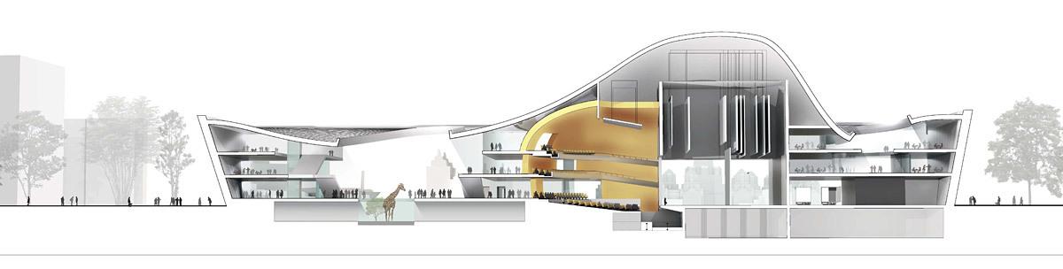 Long section (Image: Henning Larsen Architects and Van den Berg Groep)