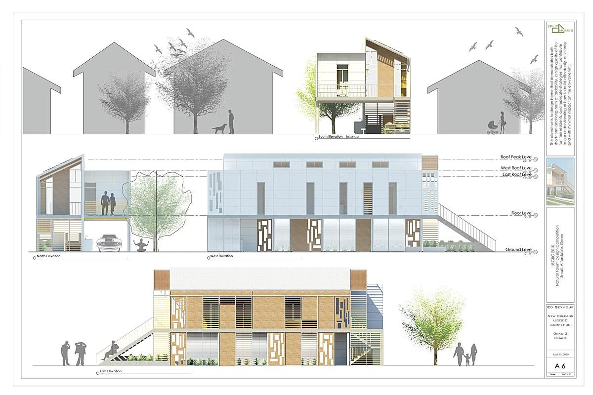 SSPLIT House Elevations