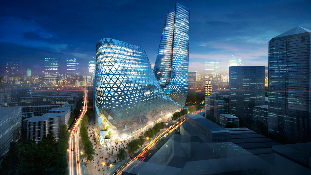 Zhengzhou Mixed Use Development Trahan Architects Archinect