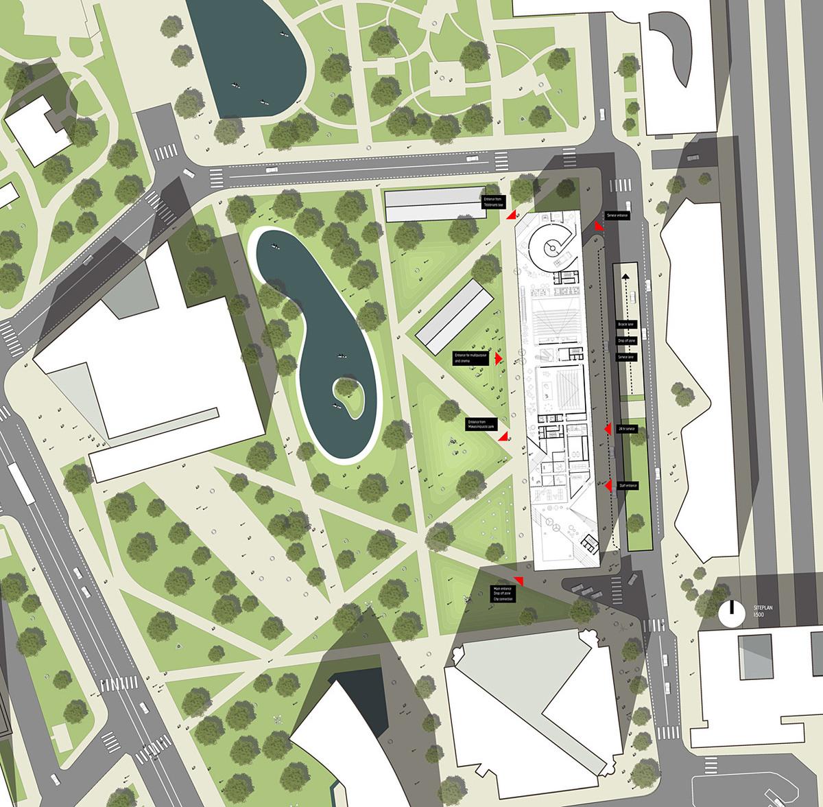 Site plan (Image: OYO + office9 + Ingenium)