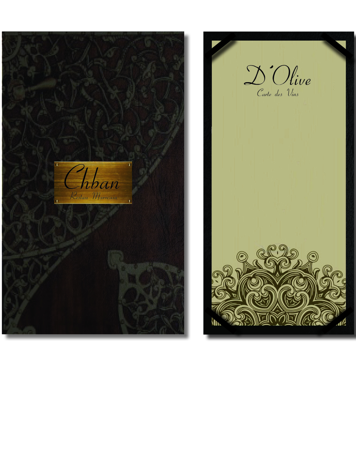 Custom Menu and Wine List Design