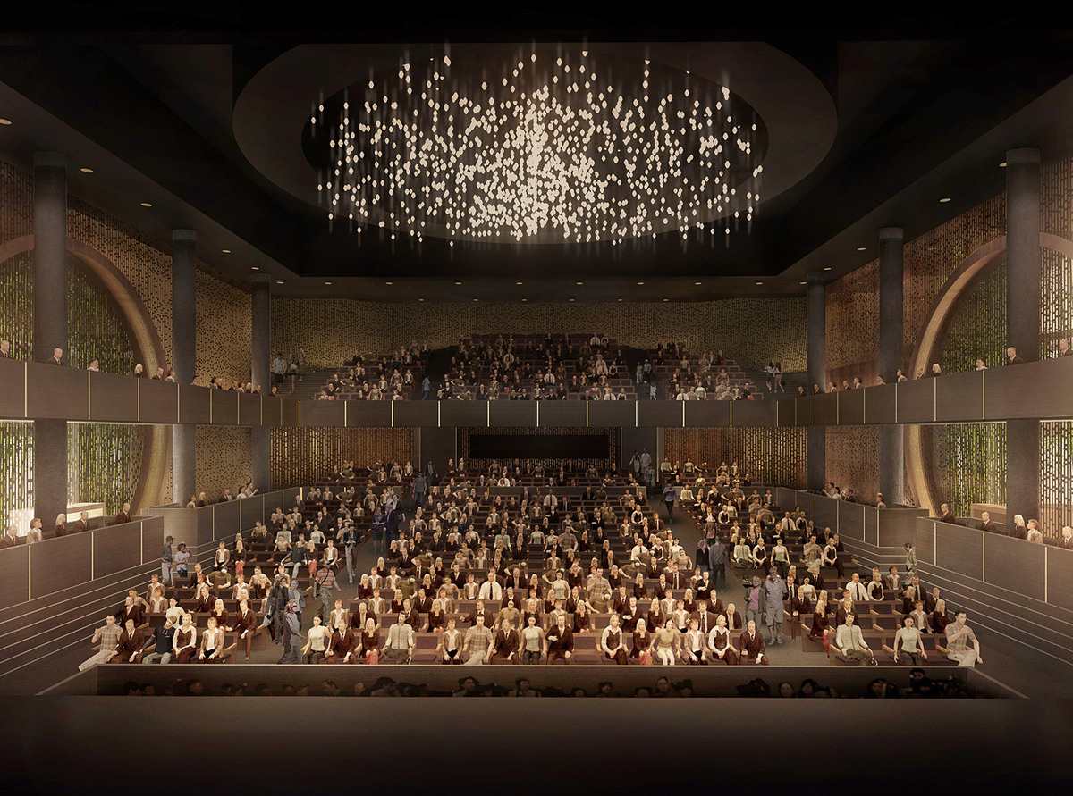 View from the stage towards the auditorium inside the Main Theater (Image: West Kowloon Cultural District Authority)