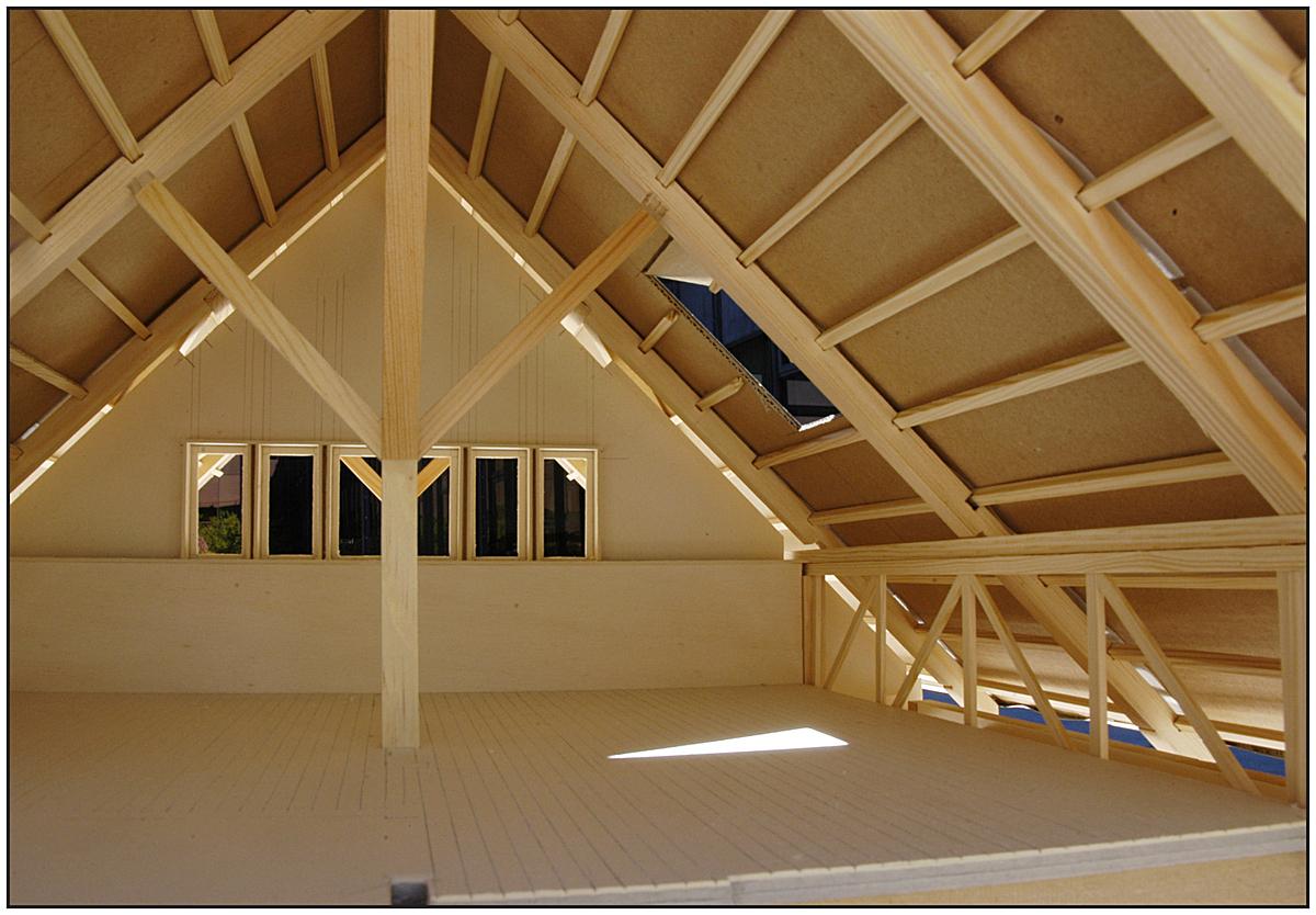 1:20 model - upper floor