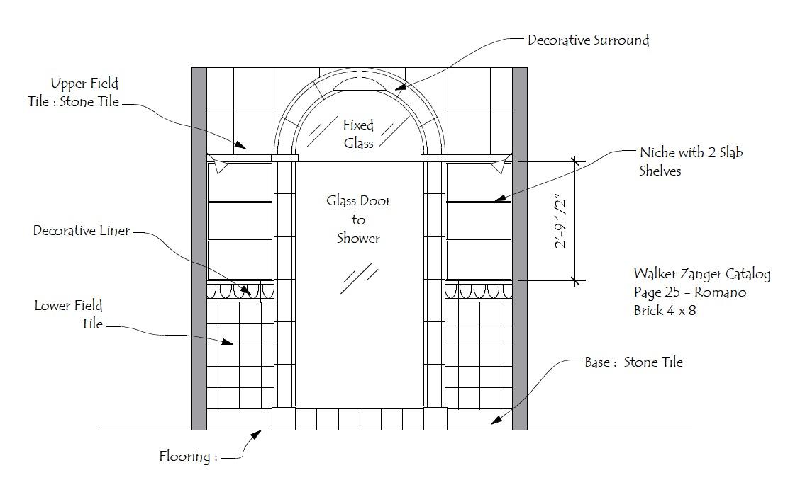 Master Bath Elevation